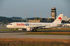 Belle Air Europe Airbus A320-214 EI-LIS Touchdown Rwy 34