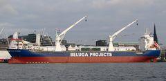 Beluga Skysails zur Taufe in Hamburg