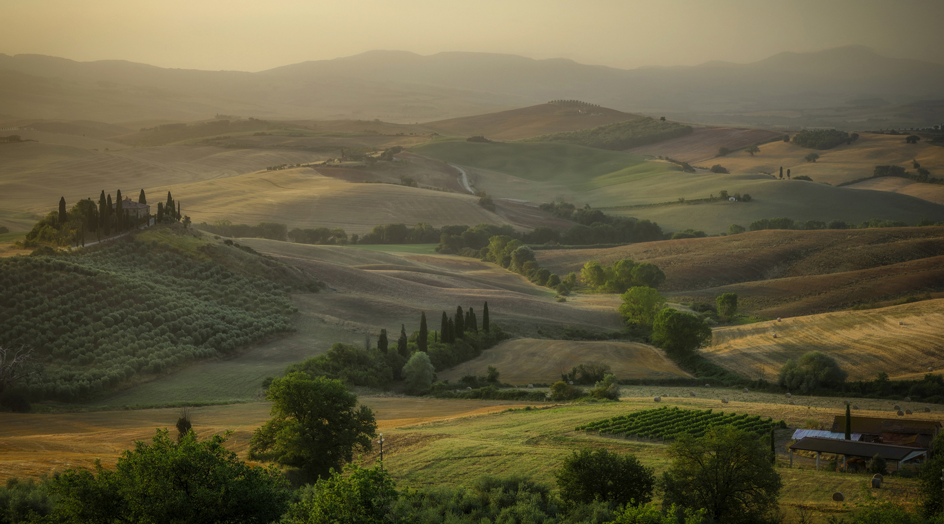 Belvedere-S Quirico Orcia-the day begins