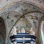 Bemalte Decke im Dom von Roskilde