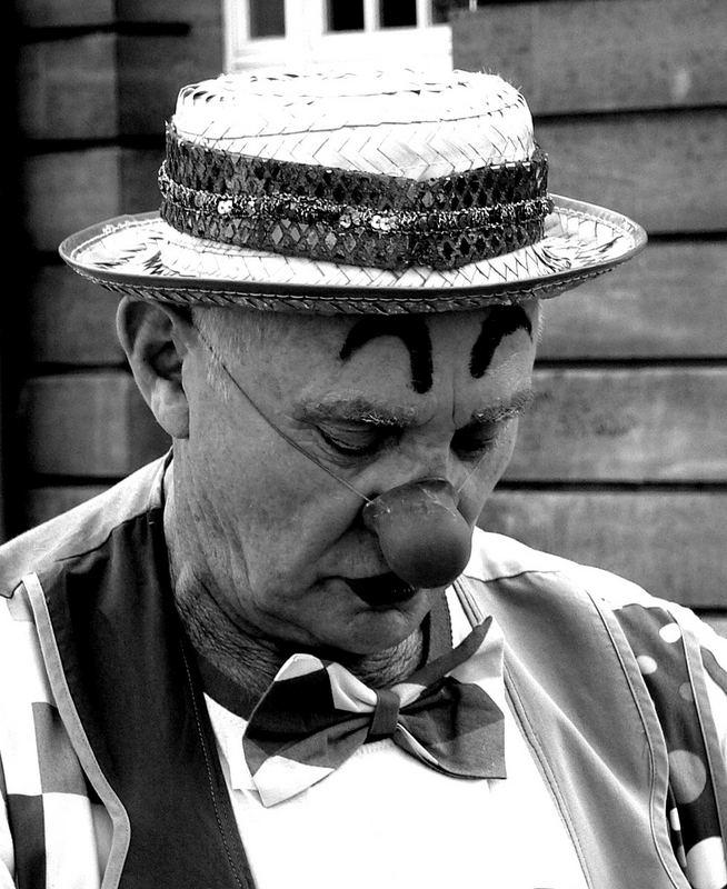 Bemühter Clown