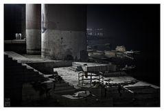 Benares At Night ~ Sleepers In Necropolis