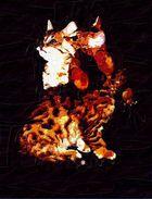 Bengal Kitten Digital Painting