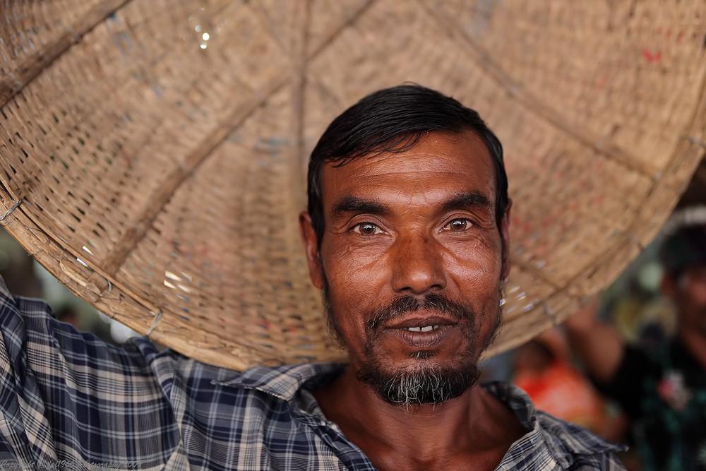 Bengali Porter in Dhaka vegetable market