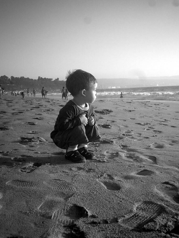 Benjamín en la Playa