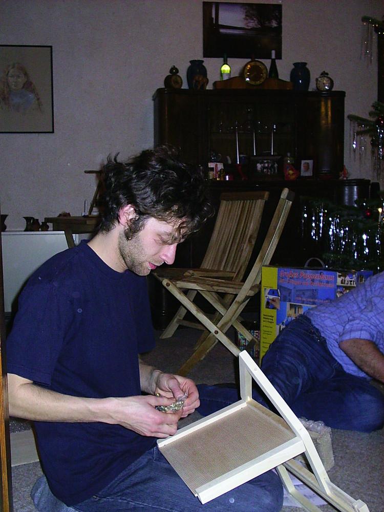 Benjamin Weihnachten 2004***das letzte Mal für Ihn.