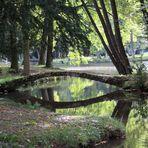 Bennwihr, Parc de Schoppenwihr, Brücke zum Grand Étang