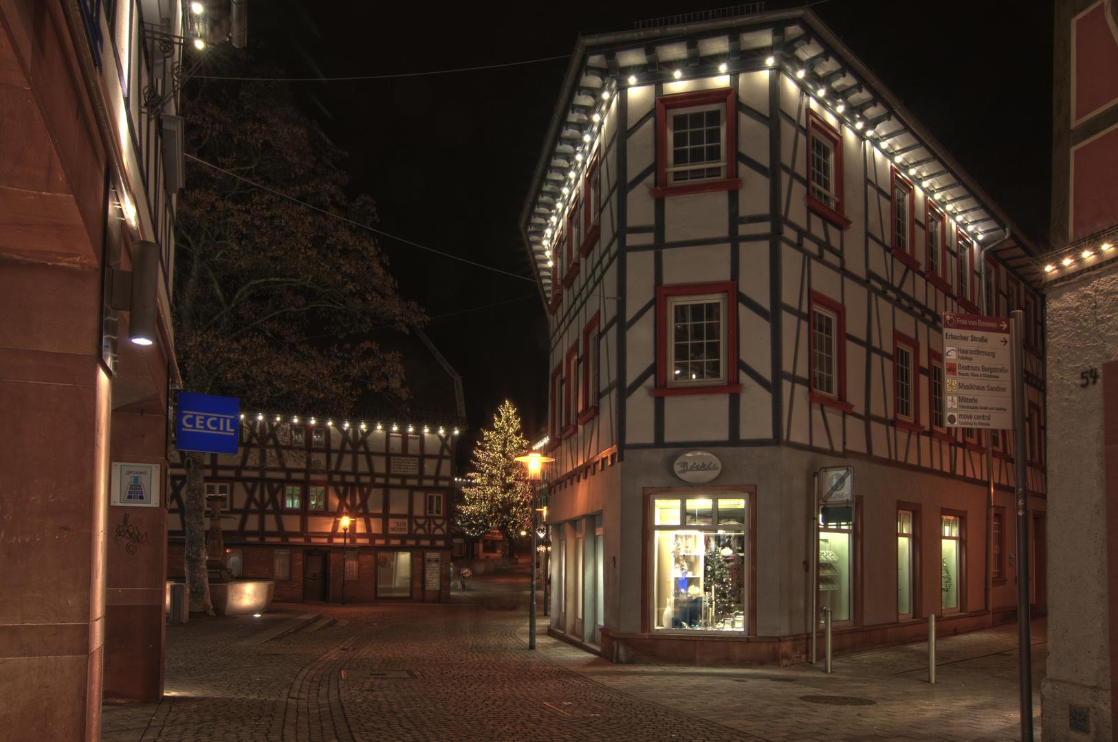 Bensheim bei Nacht