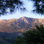 Berg im Abendlicht