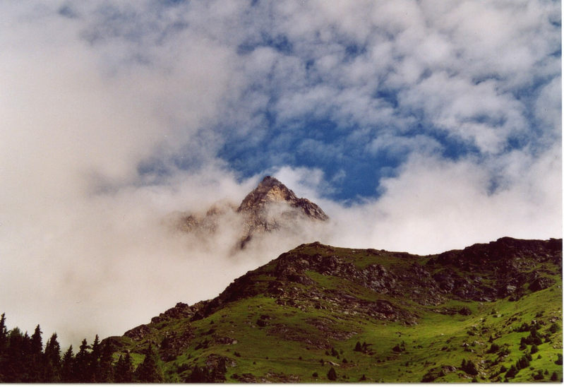 Berg in der Berglandschaft