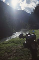 Berg Tal Fluß