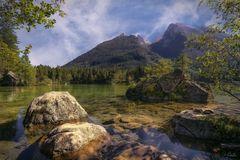 Bergblick am Hintersee