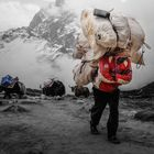 Berge 2018 Trägern in Nepal zum Everest Base Camp