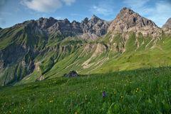 Berge an der Kemptner Hütte