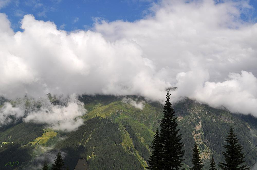 Berge im Nebel (2)