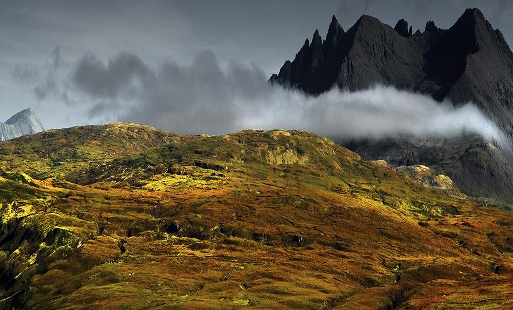 Berge Licht und Himmel