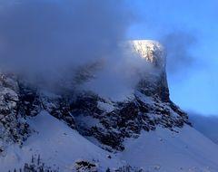 Berge , Sonne und Schnee