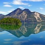 Berge und Himmel im Spiegel ...