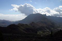 Berge und Wolken auf Gran Canaria