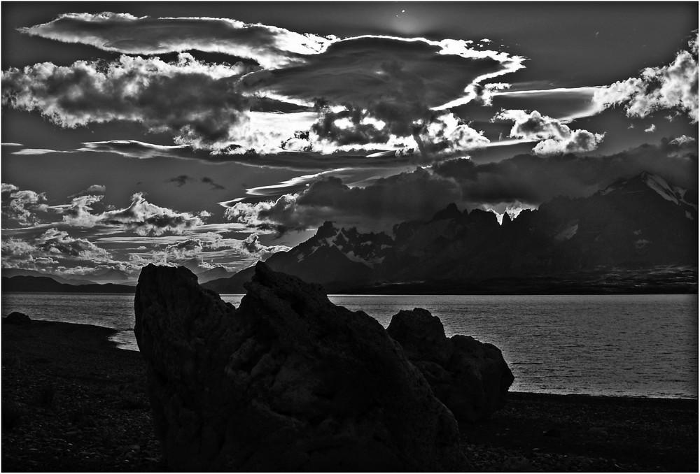 Berge und Wolken ...
