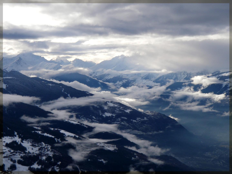 Berge, Wolken und Sonne ... so toll