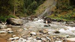 Bergfluss in Österreich