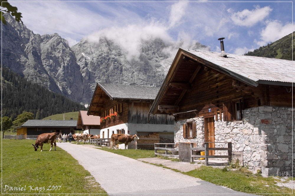 Bergidülle auf der Eng-Alm in Österreich