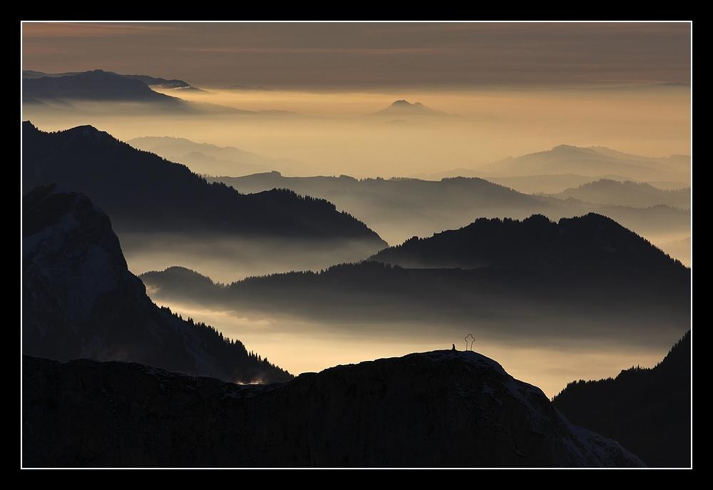 Bergketten über dem Entlebuch