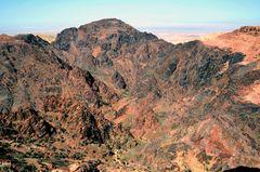 Berglandschaft von Petra