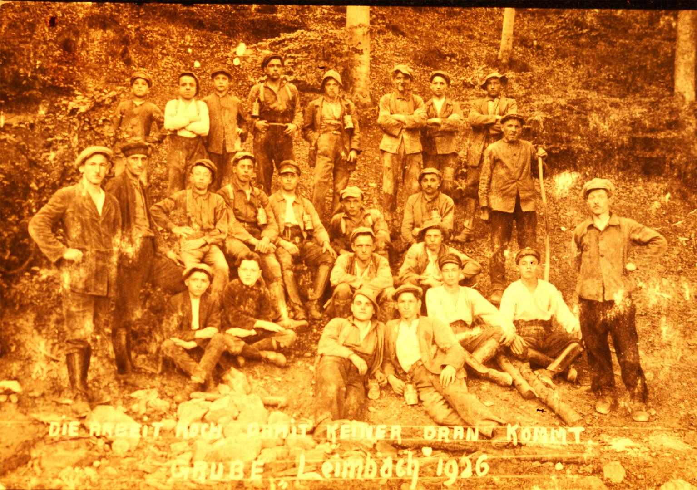 Bergleute von 1926 aus unserer Gegend.