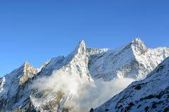 Bergpanorama bei Dharamsala auf der Manaslu-Runde