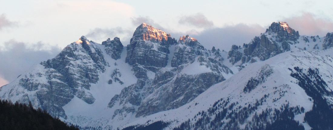 Bergpanorama im Abendlicht