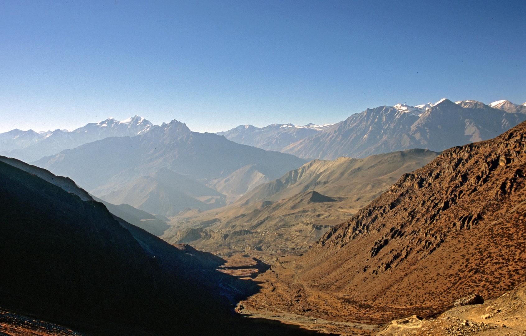Bergpanorama oberhalb von Muktinath Phedi