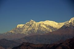 Bergpanorama vom Poon Hill zum Sonnenaufgang