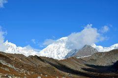 Bergpanorama von Bhimtang (3700 m)