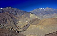 Bergpanorama zwischen Kagbeni und Muktinath