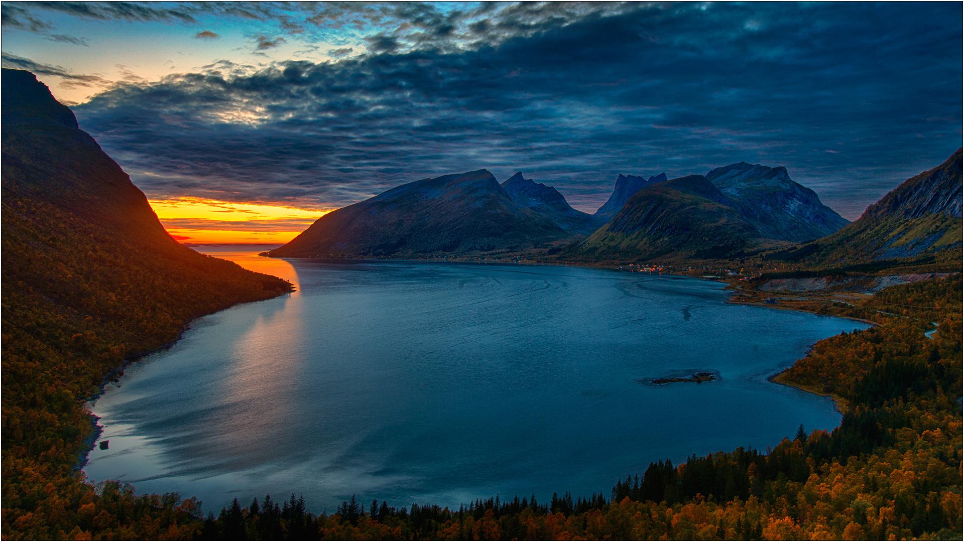Bergsbotn Abendlicht