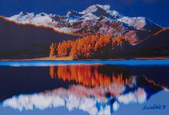 Bergsee in Licht und Schatten