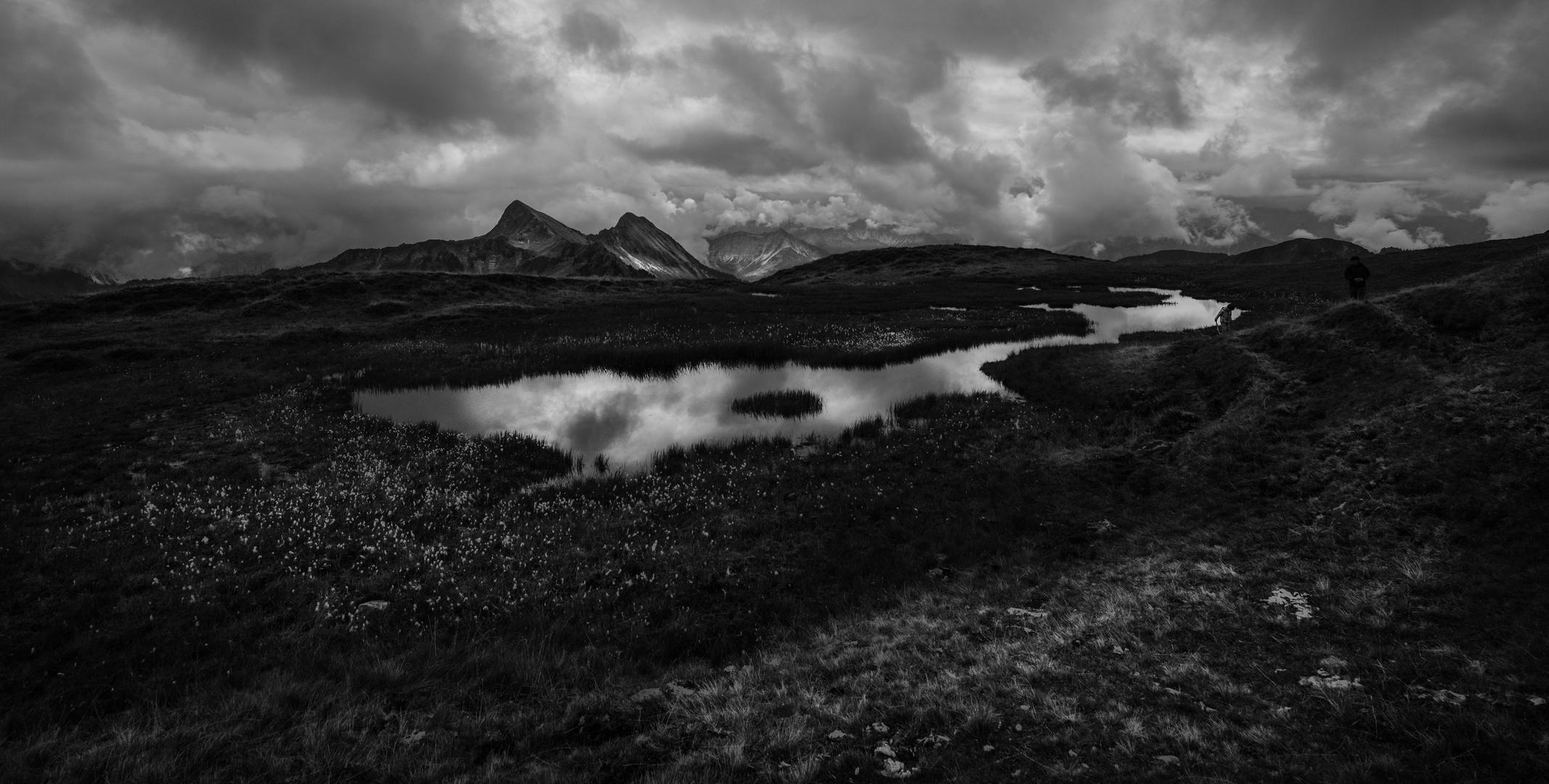 Bergsee schwarz/weiss