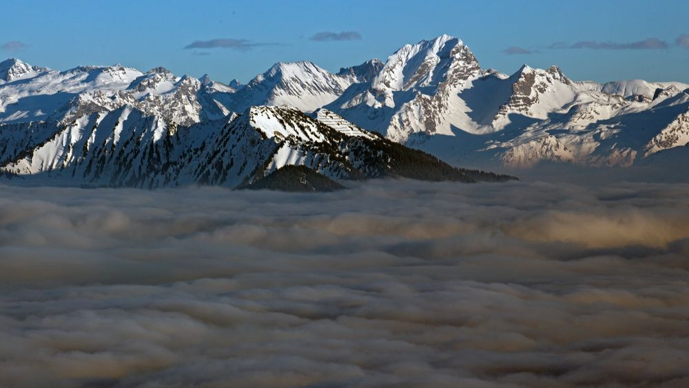Bergsichten im Januar