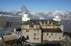Bergstation Gornergrat mit Matterhorn