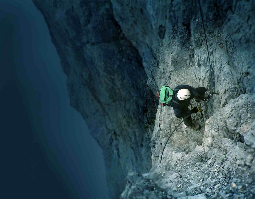 Bergsteiger am Dachstein/A