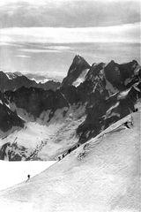 bergsteiger am montblanc