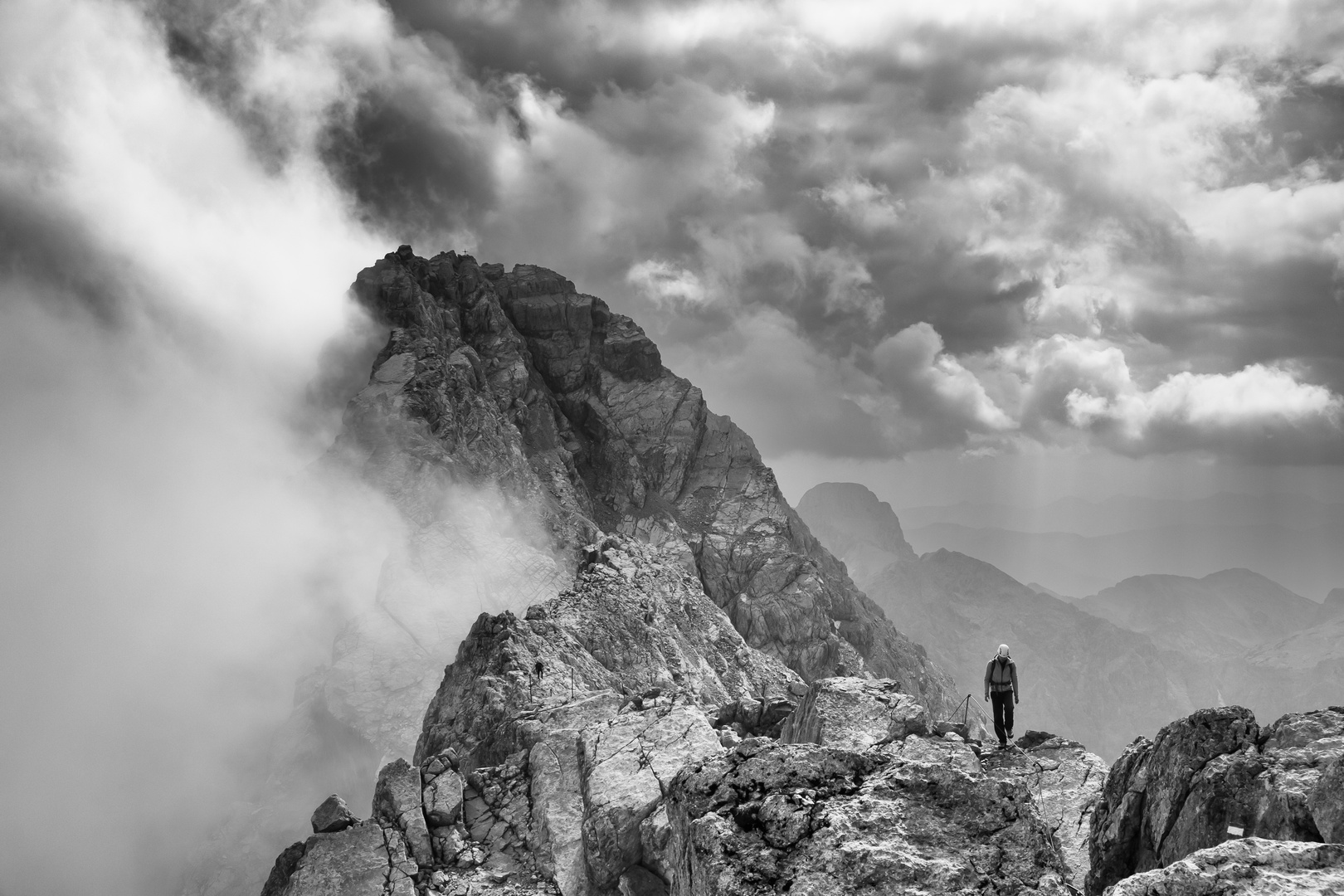 Bergsteiger am Watzmann