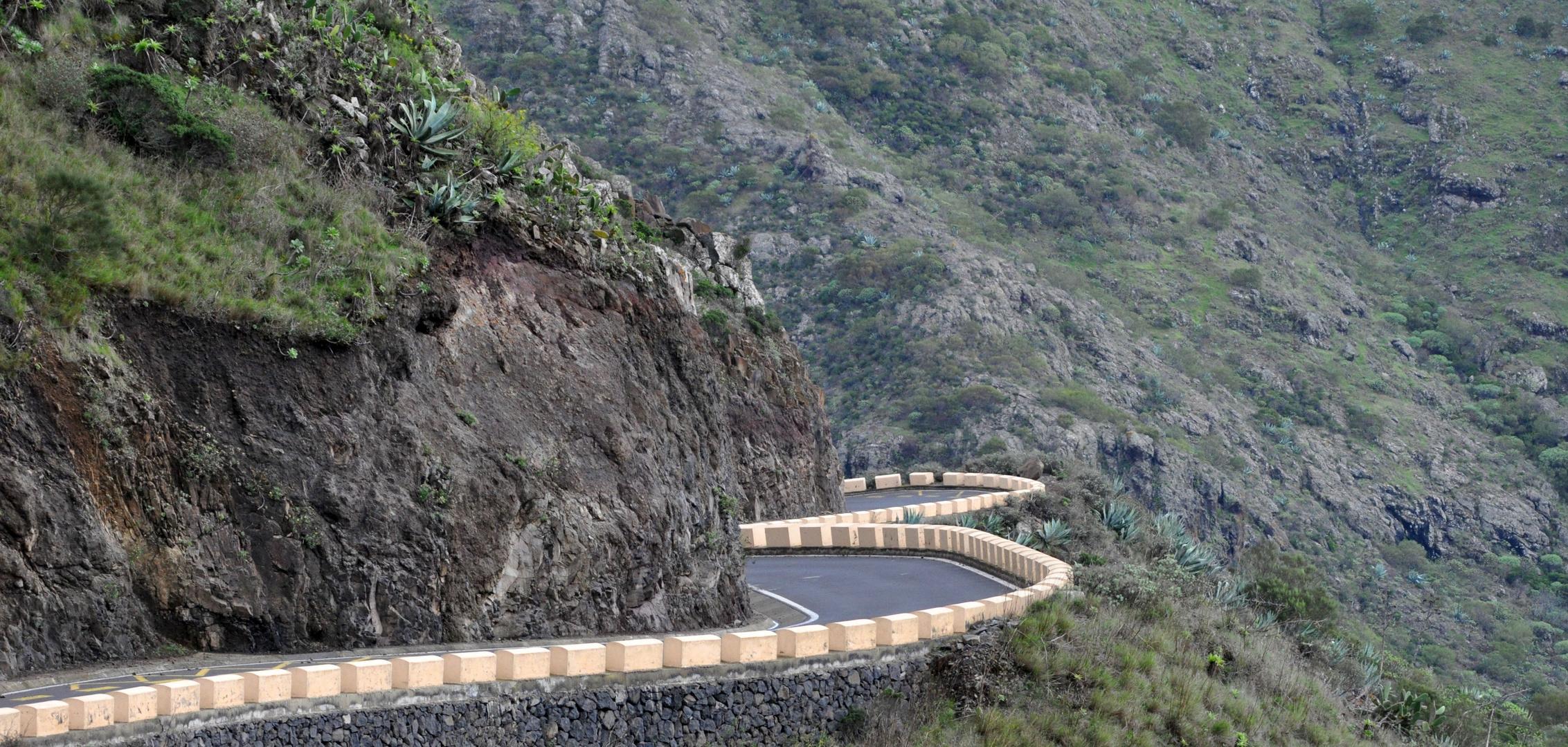 Bergstrasse am Teide Tenerife