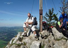 """'""""Bergtour Grünten mit Selbstaufnahme am Gipfelkreuz auf 1496m"""""""