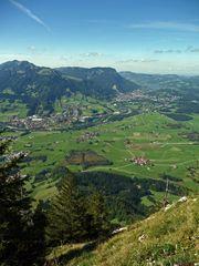 """Bergtour Grünten Talblick vom Burgberger Hörnle 1496m"""