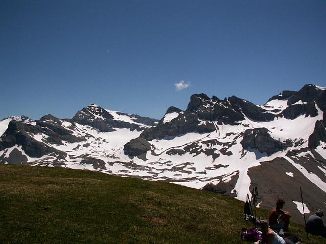 Bergtour zum Chaiserstuel - Blick auf den Ruchstock