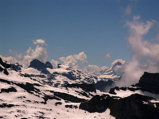 Bergtour zum Chaiserstuel - Blick über die Alpen