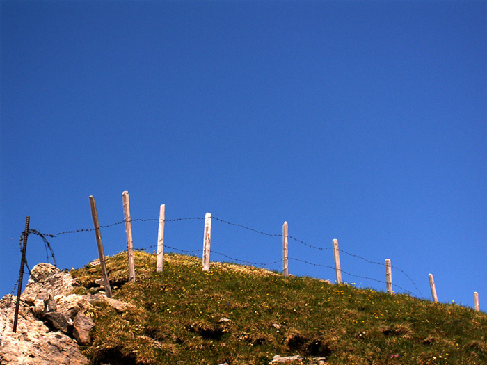 Bergtour zum Chaiserstuel - Zaun auf 2400 m